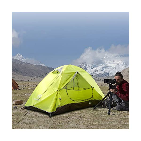 Bessport Camping Tent 1 and 2 Person Lightweight Backpacking Tent Waterproof Two Doors Easy Setup Tent for Outdoor… 1
