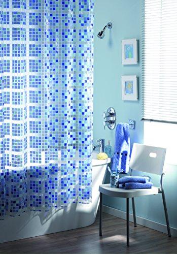 Mosaik Design, PEVA Duschvorhang mit Ringen