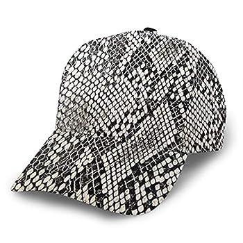 TOLUYOQU Baseball Cap Snake Skin Texture Adjustable Low Profile Washed Dad Hat for Men Women