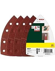 Bosch 25-delige schuurbladenset (diverse materialen, korrel 40/80/120/180, 11 gaten, accessoire multischuurmachine)