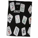 "3D Rose Mah Jongg Tiles On Black TWL 34915 1 Towel, 15"" x"