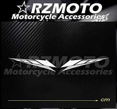 BLOUR Pegatina Nuevo RZMOTO Motocicleta Coche Ruedas Pintura Calcomanía Logo Pad Carenado Racing para Yamaha R1 R6 TMAX R25 R3