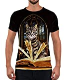 Alistyle Mens Cat Print Short Sleeve Unisex Summer Casual Pattern Tees XL