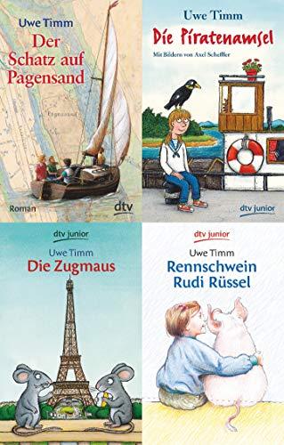 Uwe Timm - 4 schöne Jugendbücher im Set + 1 exklusives Postkartenset