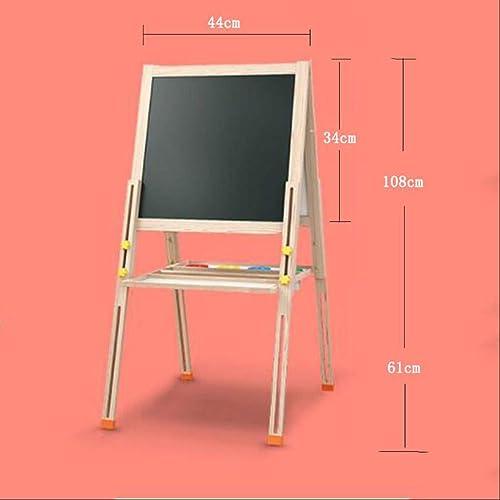 courirWEI Tablette à Dessin en Bois Double Tableau magnétique magnétique Petits Enfants en Bois d'apprentissage des Jouets éducatifs (Taille   34x44)
