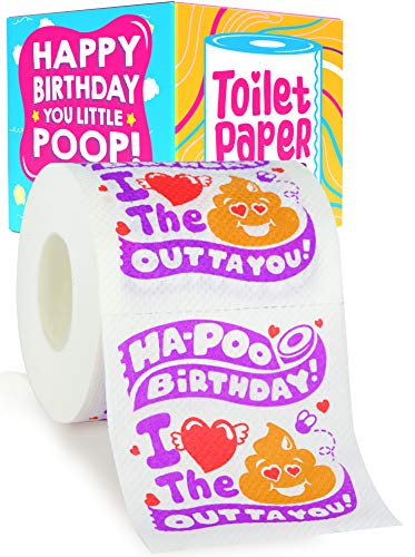 Funny Birthday Gifts for Men - Fun Gifts for Men Gag Gifts for Men - Happy Birthday Funny Toilet Paper Funny Gifts for Men - Gift Ideas for Men 30th 40th 50th 60th - Unique Gifts for Men Gift Ideas