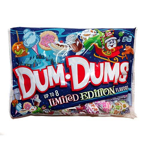 Spangler 1 Bag DumDums Pops  Up To 8 Assorted Limited Edition Flavors  Holiday Lollipops  Free of Major Allergens  Net Wt 104 oz