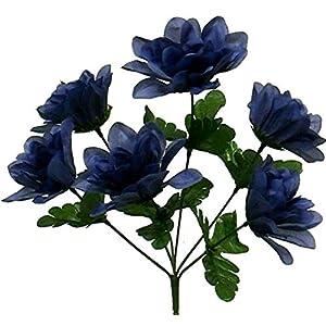 TPL 1 Bouquet of 6 Head Dahlia 3″ Artificial Flower Dahlia Silk Centerpiece – 112DL #TN20D