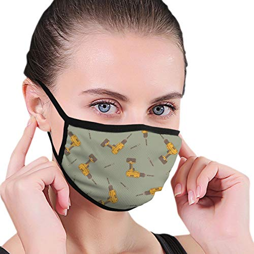 Fashion Black Face Mask Electric Drill Reusable Washable Anti-Dust Face Masks