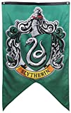 Hogwarts School of Witchcraft Banner for Harry Wizardry Flag Poster Wall Decals Magical Wizard School Crest Party Decoration (Slytherin)
