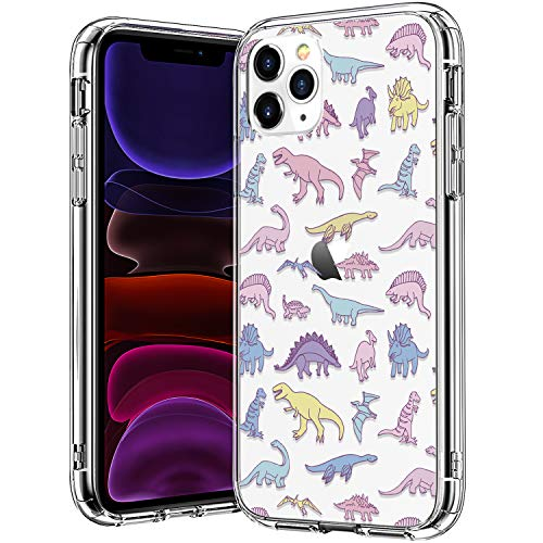 BICOL iPhone 11 Pro Max Case, Dinosaurs Pattern Clear Design Transparent Plastic Hard Back Case with TPU Bumper Protective Case Cover for Apple iPhone 11 Pro Max 6.5 inch 2019