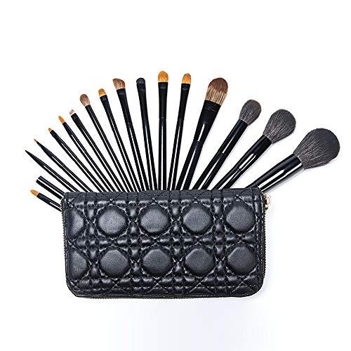 Pinceaux de maquillage avec étui à pinceaux, fond de teint Beauty Blender Cleaner Brush Correcteur Ombre à Paupières Eyeliner Brosse À Sourcils Brosse à maquillage XXYHYQ