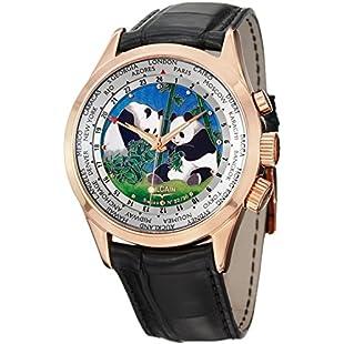 Vulcain Men's 42mm Black Alligator Leather Band Mechanical Watch 100508-189L