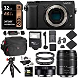 Panasonic GX85 Mirrorless Micro Four Thirds Digital Camera with 12-32mm, 45-150mm Lenses, 32GB Memory Card, Tabletop Tripod, Filters, Slave Flash Accessory Bundle