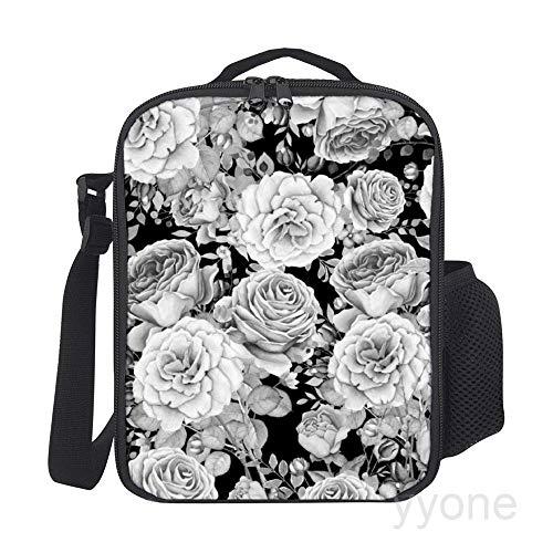 Tragbare, thermoisolierte Picknick-Tasche, küssende Frösche, Handtasche, Lunchbox mit Schultergurt für warme oder kalte Lebensmittel Rosa