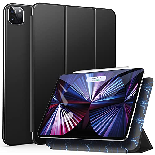 ZtotopHülle Hülle für iPad Pro 11 2021(3rd Generation)/iPad Pro 11 2020(2nd Generation), Trifold Stand Schutzhülle Hülle Cover mit Auto Aufwachen/Schlaf, Ultra Dünn Smart Magnetische Abdeckung-Schwarz
