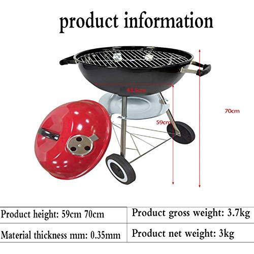 518 UAvJZ2L - YWZQ Charcoal BBQ Grill Pit, Outdoor-Camping-Kocher Garten Grill Werkzeuge Grillzubehör Kochen Werkzeuge Küchen