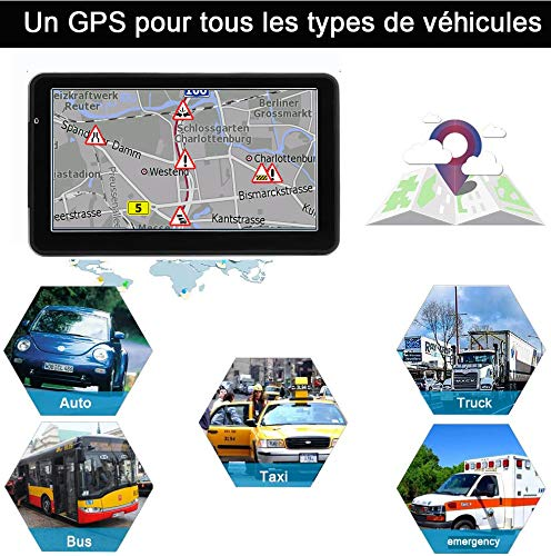 DBPower® Navigateur 7 Pouses GPS Europe 2020 special Poids Lourds Camion Version Camping Car Truck Cartographie a Vie