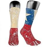 Hombres Mujeres Chile Retro Bandera Calcetines Largos Novedad Medias Colorido Algodón Calcetines Bueno Para Regalo 30cm