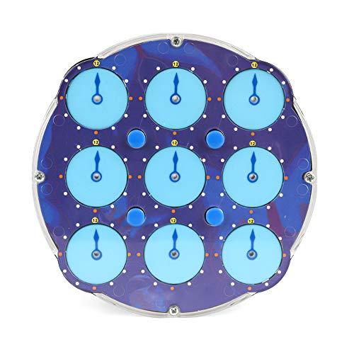 ZXIAQI Magische Uhr, Transparentes Blau Zauberwürfel Block Intelligenz Gear Cube Clock Spielzeug für Kinder und Erwachsene Dekompressionsgeschenk, 11cm/4.33