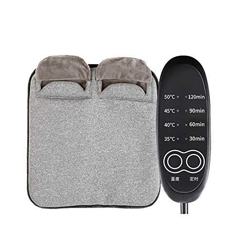 Jiayuan voetenwarmer, elektrisch, verwarmd, zeer zacht, flanel, extra groot voor bed, voeten, krampen, kantoor/onder het bureau, 13,7 × 4 temperatuur