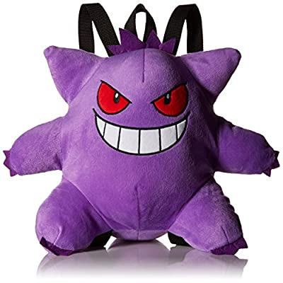 Cool Purple Pokemon Gangar Plush Backpack