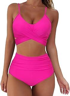 Women Wrap Bikini Set Push Up High Waisted 2 Piece Swimsuits