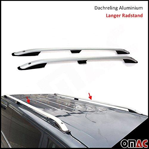 OMAC GmbH VW T4Transporter Multivan Caravelle techo aluminio gris larga Cilindro de Stand SP
