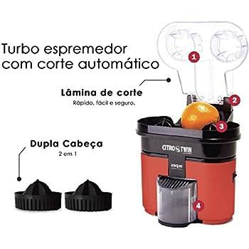 Exprimidor eléctrico con cortador y doble cono de exprimido DUO ...