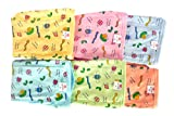 MOM CARE Reusable Diapers,Cotton Nappies,Cloth langots for Newborn Babies Double Layer Padded u Shaped Extra Soft(Pack of 6)