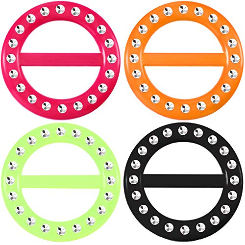 4 x 80s Party Tee Shirt Clips - Assorted Colors