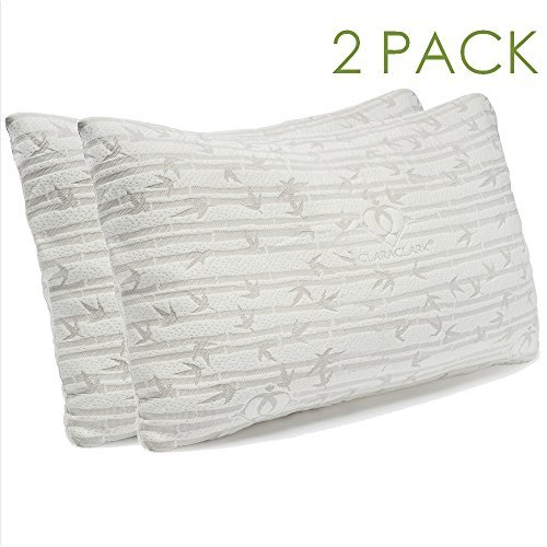 Side or Back Sleeper Queen Size Silky Soft CosyBoo NEW 1 Pack Bamboo Memory Foam Pillow White