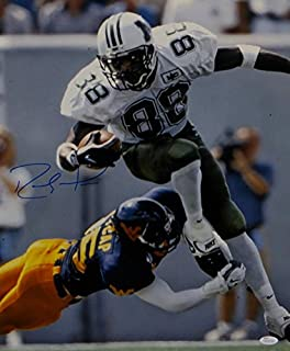 Randy Moss Autographed Marshall Thundering Herd 16x20 Running Photo- JSA W Auth