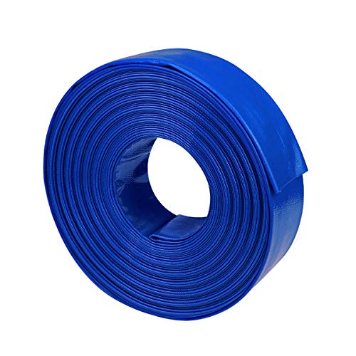 """olagoya 2"""" Dia x 100 ft BackwashHose forSwimmingPools, Heavy Duty Reinforced Lay Flat Discharge Hose for Water Transfer Applications"""