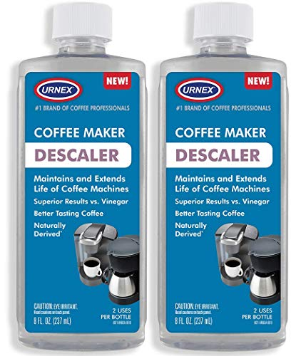 Descaler (2 Pack, 2 Uses Per Bottle) - Universal Cleaner & Descaling Solution for Keurig, Nespresso, Delonghi, Breville, and All Single Use Coffee and Espresso Machines - Made in the USA