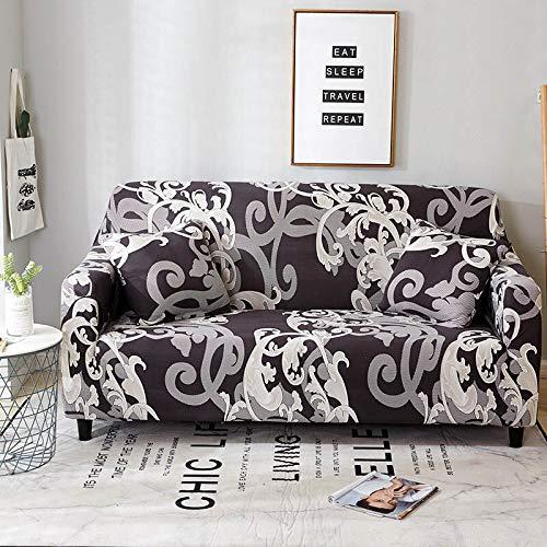 Funda de sofá elástica de algodón Funda de sofá Todo Incluido para Sala de Estar Funda elástica en Forma de L Sofá de Esquina A6 de 4 plazas