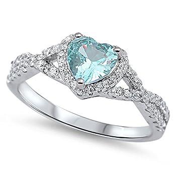 Best aquamarine heart ring Reviews