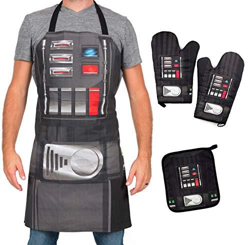 Star Wars Darth Vader Apron, Oven Mitts and Pot Holder...