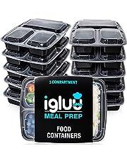 3 fack BPA-fria återanvändbara matbehållare – matförvaringsbrickor i plast med lufttäta lock – kan användas i mikrovågsugn, frys och diskmaskin – stapelbara bento-lunchlådor (32 oz)