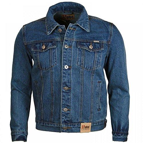 Duke London Mens Regular Trucker Denim Jacket - Blue - Medium