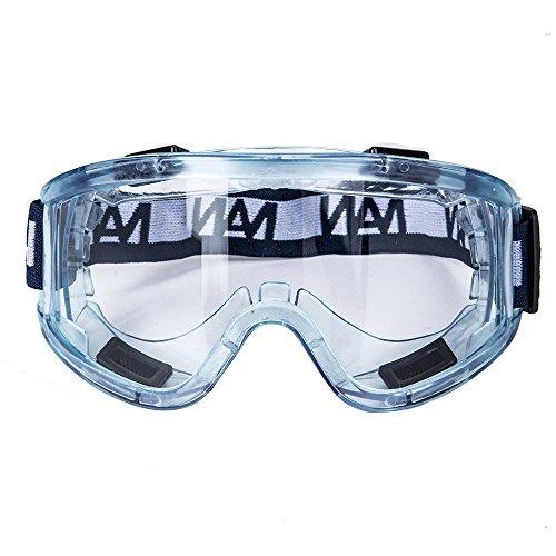 ENJOHOS Schutzbrille Vollsichtbrille Sicherheitsbrille, Seitenschutz & Beschlagfrei & Anti-Staub & Anti-Schock, mit Verstellbarem Kopfband, Polycarbonat, für Labor, Augenschutz, Arbeitsschutz