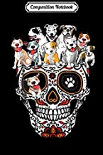 Composition Notebook: Pitbull Mom Sugar Skull Funny Gothic Dog Mom Dad Gift  Journal/Notebook Blank Lined Ruled 6x9 100 Pages