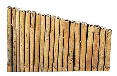 Arella Canniccio in Bamboo con canne spesse 14-25mm copertura da giardino | Canna Passante Frangivista ombra | Stuoia Cannucciata Frangisole | Recinzione ombra in bambù esterno | Dimensioni 150x300 cm