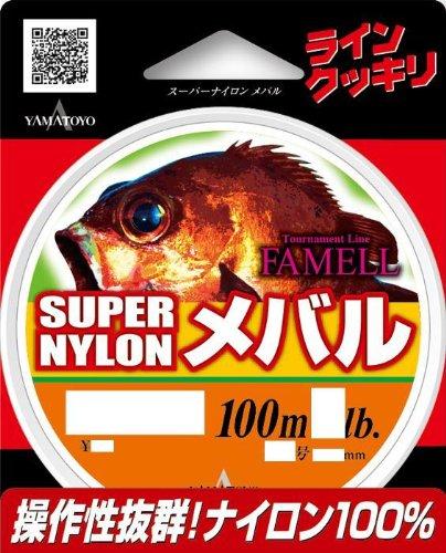 ヤマトヨテグス(YAMATOYO) ライン メバルスーパーナイロン100m 3LB(0.8号) オレンジ