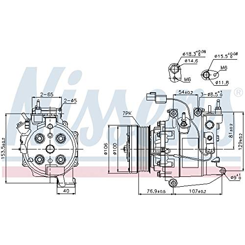 Nissens 89246 Compressore per Climatizzatore