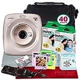 Fujifilm Instax Square SQ20 Appareil Photo instantané Hybride (Beige) – Lot d'accessoires de Luxe avec 40 Feuilles de Film instantané et Plus