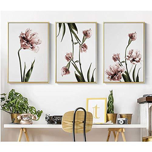 Tulp Aquarel Schilderij Mooie Canvas Prints Inkjet Art Home Slaapkamer Dineren Wanddecoratie Schilderij 70x100cm Noframed