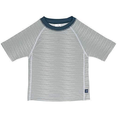 LÄSSIG Rashguard Camiseta Rash-Guard, Azul a Rayas, 12 Monate Unisex bebé