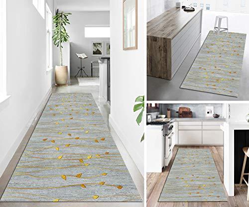 SESO UK Teppich Läufer für Wohnzimmer Esszimmer Schlafzimmer Korridor Teppich, Modern Geometrisch Home Bettumrandung Läufer Teppich (Color:EIN,Size:100X700CM)