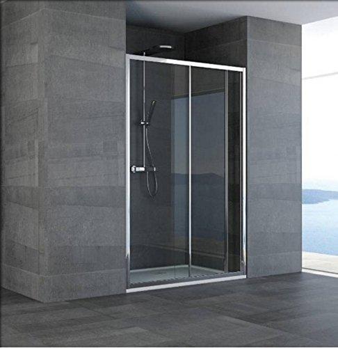 Mampara de baño de vidrio hueco diseño de nube-acrílico-plata pulido-185 Compribene cm-90 cm: Amazon.es: Bricolaje y herramientas